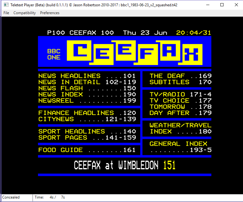Teletext and ceefax after the digital switchover.